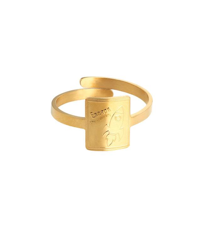 Gold Rocket Power Ring