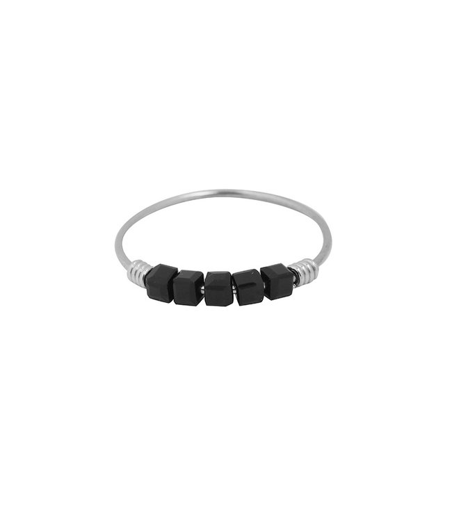 Colourblocks Ring / Black