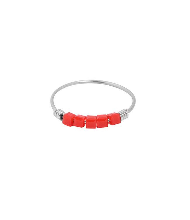 Colourblocks Ring / Red