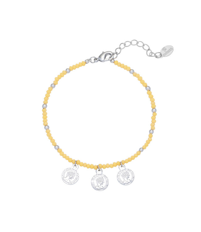 Color and Coins Bracelet / Yellow