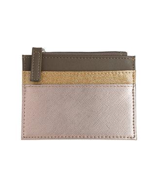 Glitter Trio Cardholder / Gold