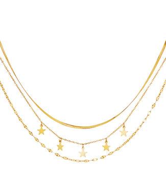 Triple Galaxy Necklace