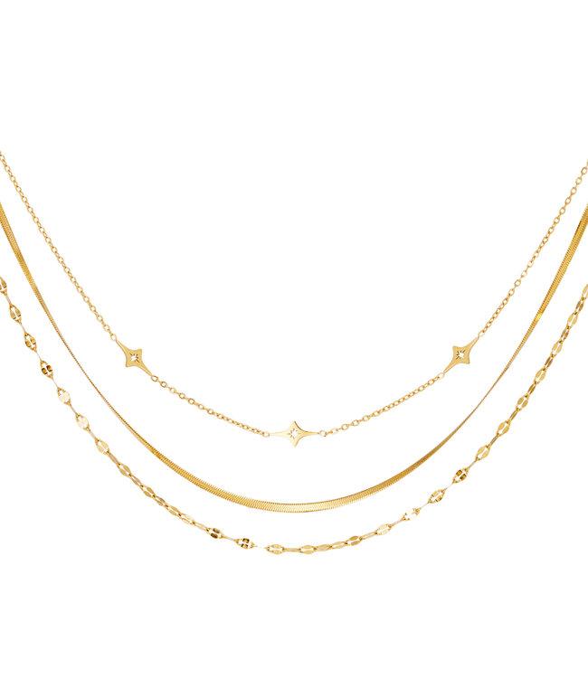 Triple Chain Necklace