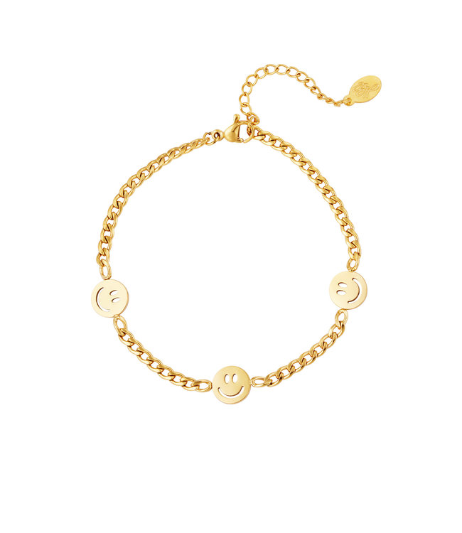 Gold Original Smiley Bracelet