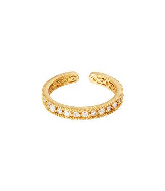 Shiny Crystals Ring