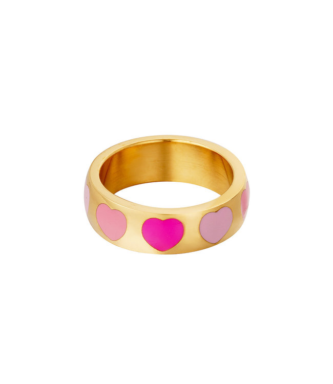 Colorful Hearts Ring