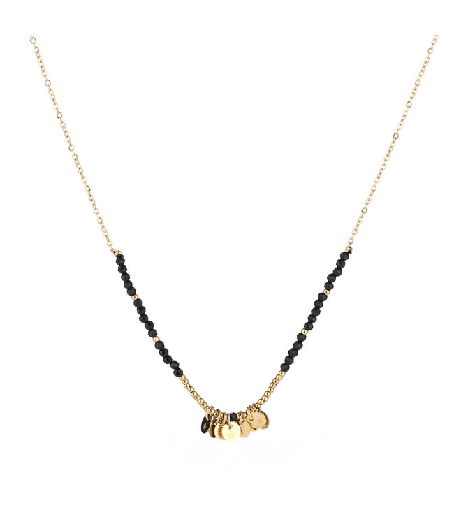 Gold Coin Beads Necklace