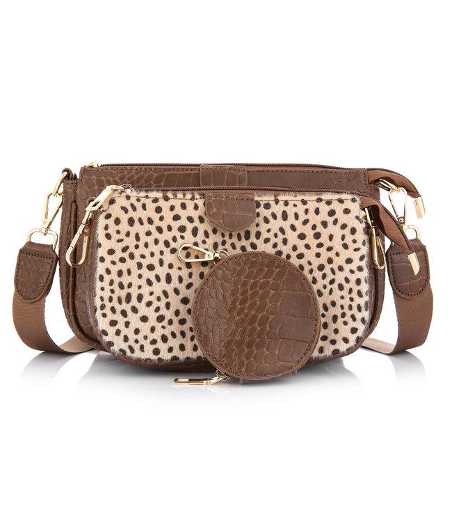 Lizzie Croco Bag / Brown