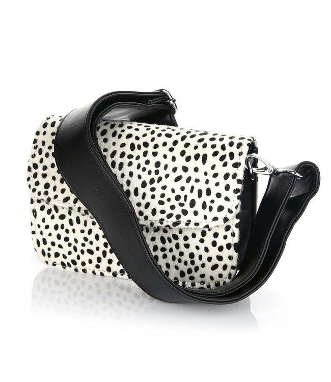 Kenzie Cheetah Bag / White