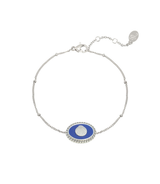 Silver Charming Shell Bracelet