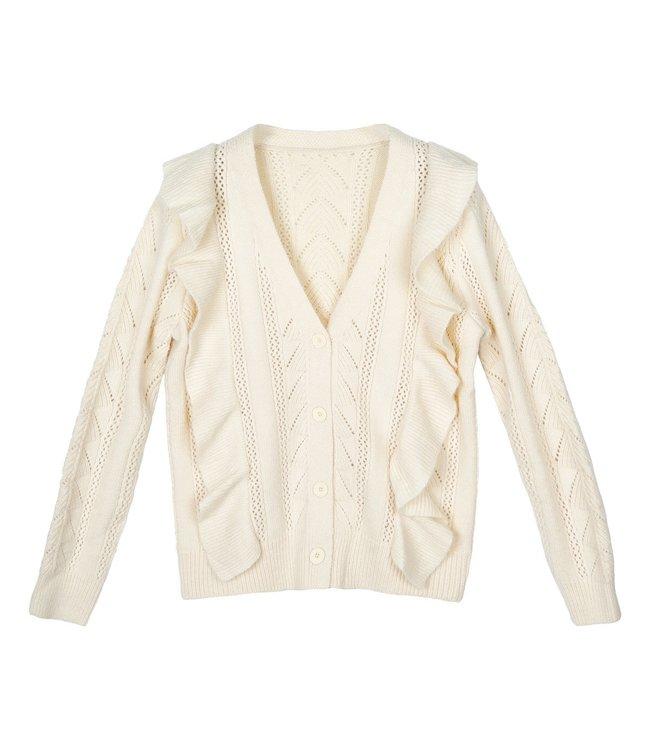 Sweet Ruffle Cardigan / Off White