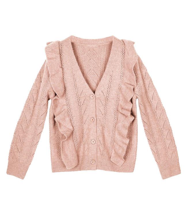 Sweet Ruffle Cardigan / Pink
