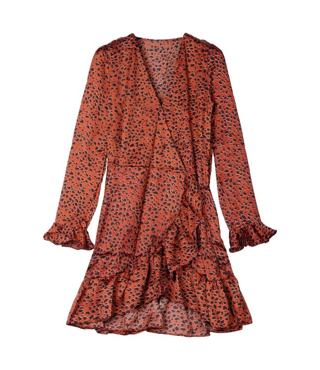 Animal Spots Dress / Copper