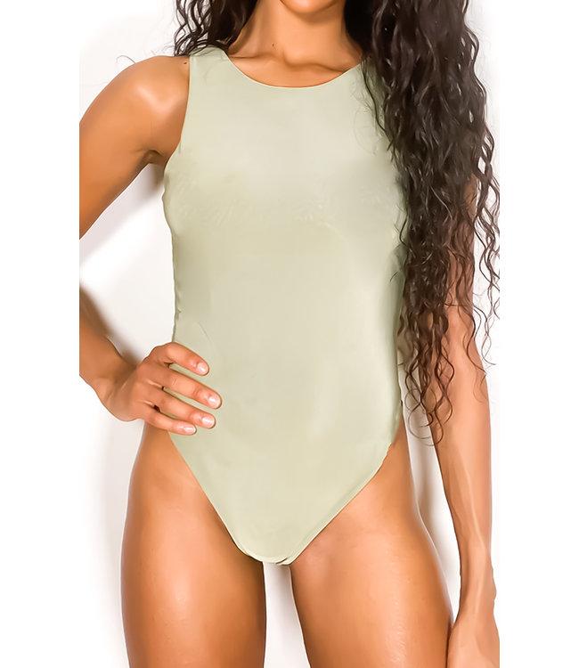 Slinky Halter Body / Sage Green