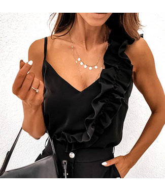 Ruches Top / Black