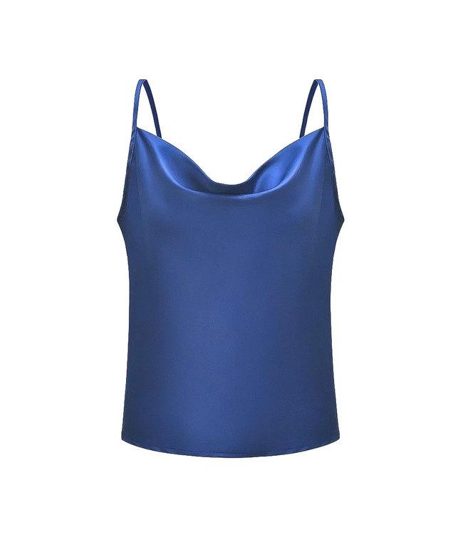 Satin Top / Navy Blue
