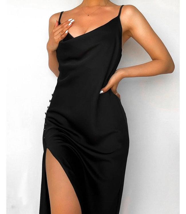 Silky Split Dress