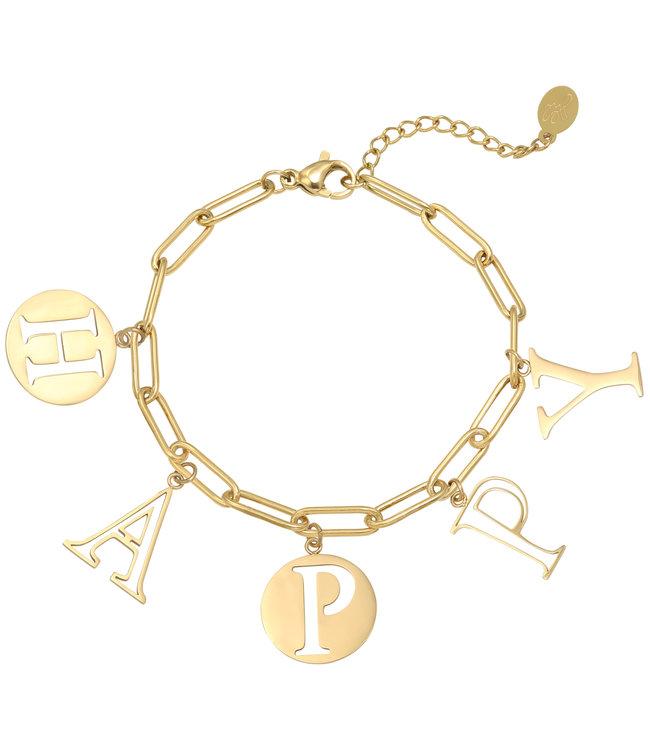 Happy Word Bracelet