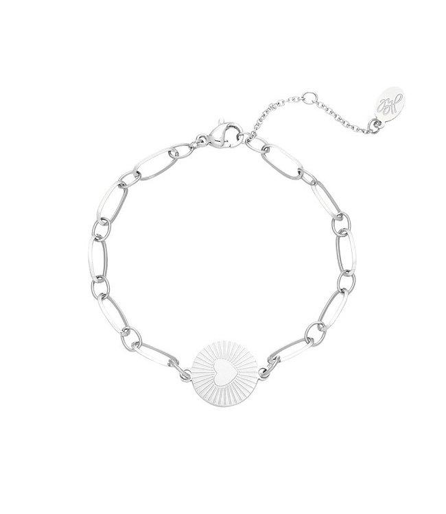 Silver In My Heart Bracelet