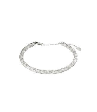 Silver Bangle Twist Bracelet