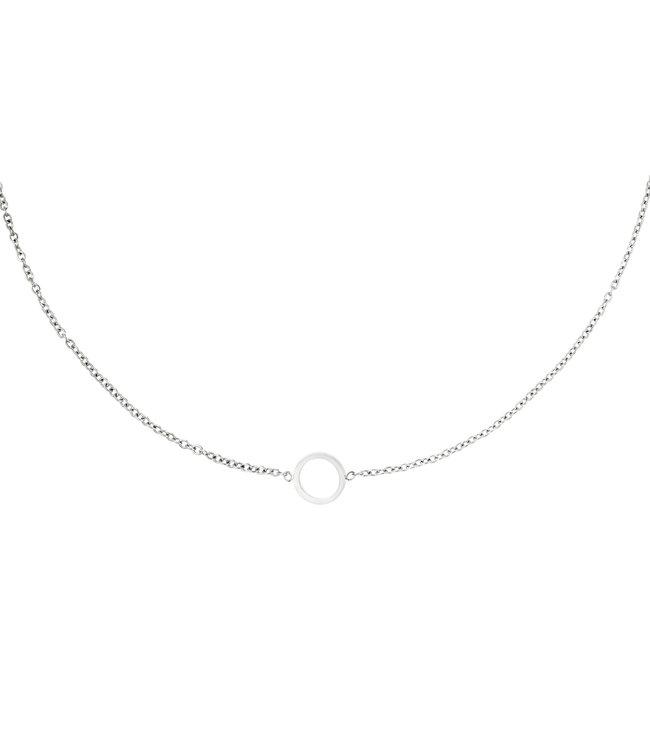 Silver Open Circle Necklace