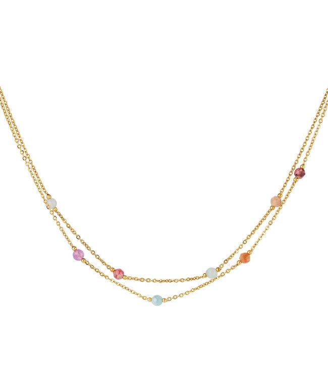 Double Stones Necklace