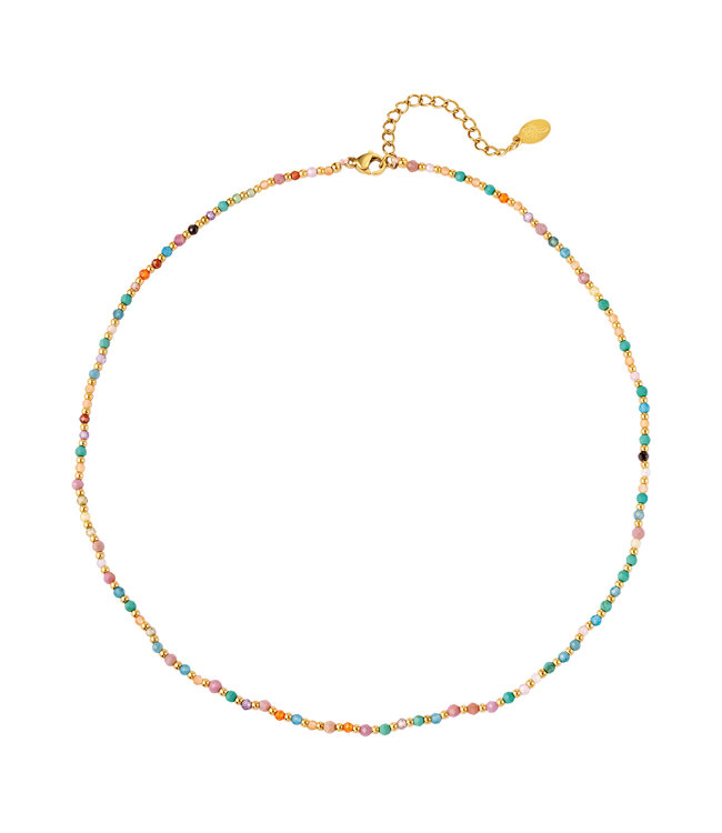 Colored Stone Beads Necklace