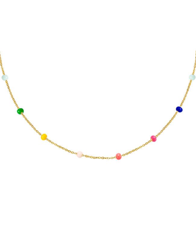 Rainbow Beads Necklace