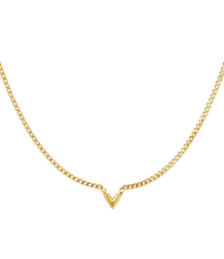 Gold Chained V Necklace