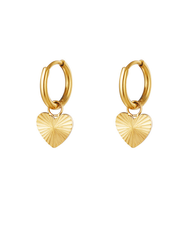Textured Heart Earrings