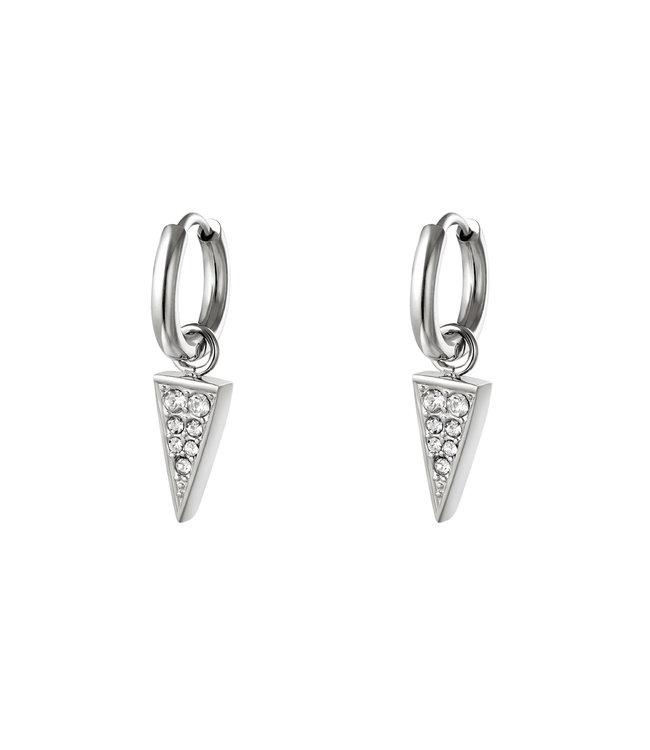 Shiny Triangle Earrings