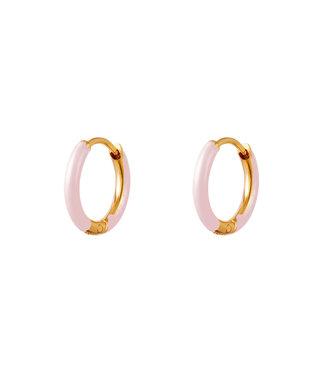 Colored Hoop Earrings