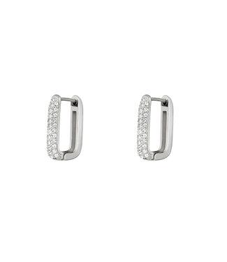 Rectangle Shimmer Earrings