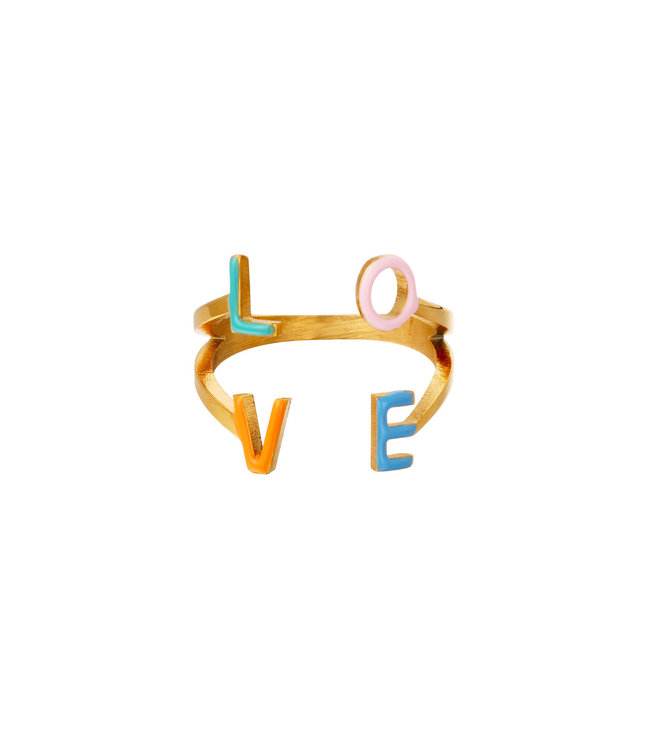 Colorful Love Ring