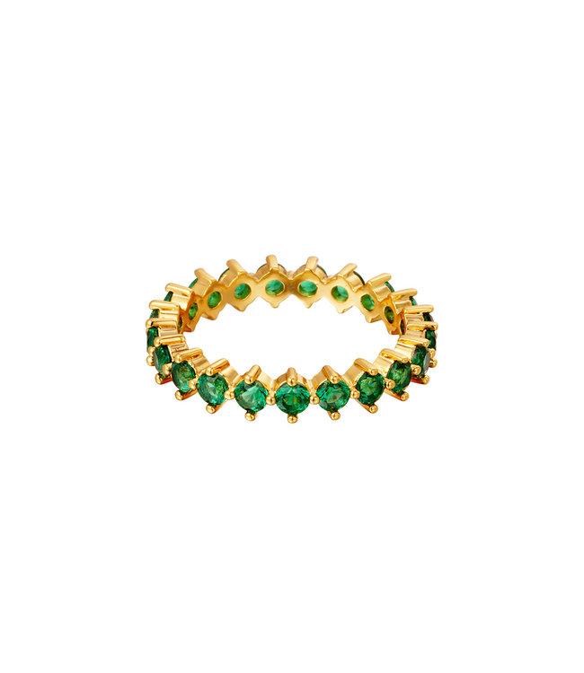 Shiny Crystals Ring / Green