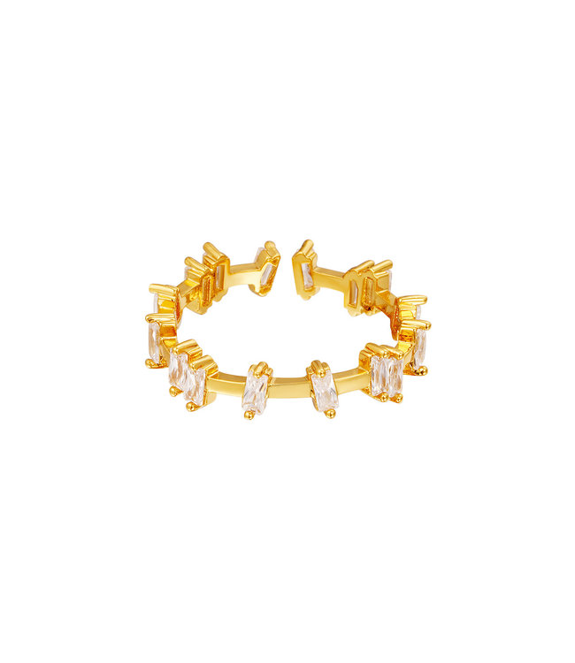 Leaning Crystals Ring