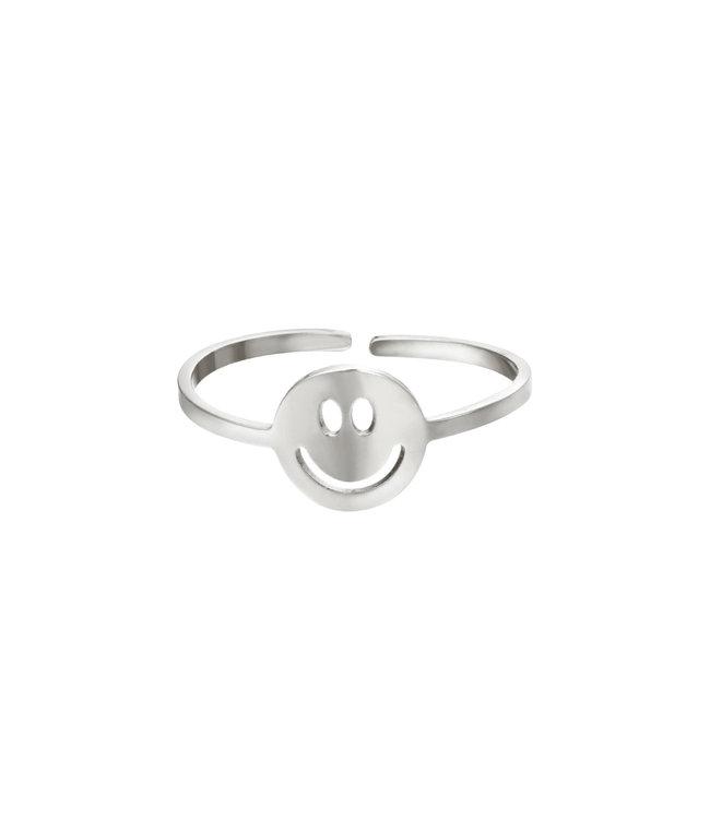 Silver Original Smiley Ring