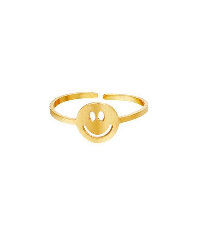 Gold Original Smiley Ring