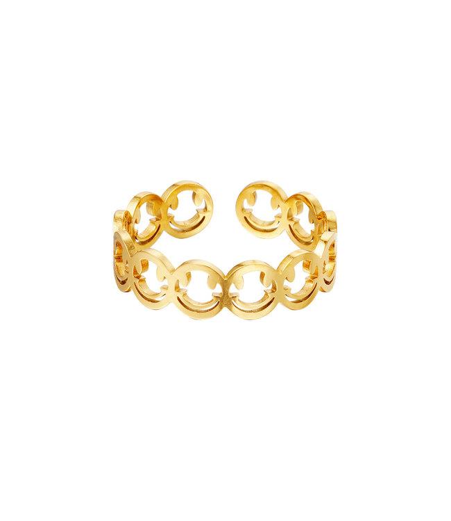 Open Smileys Ring