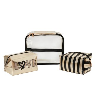 On The Move Toiletry Bag / Gold