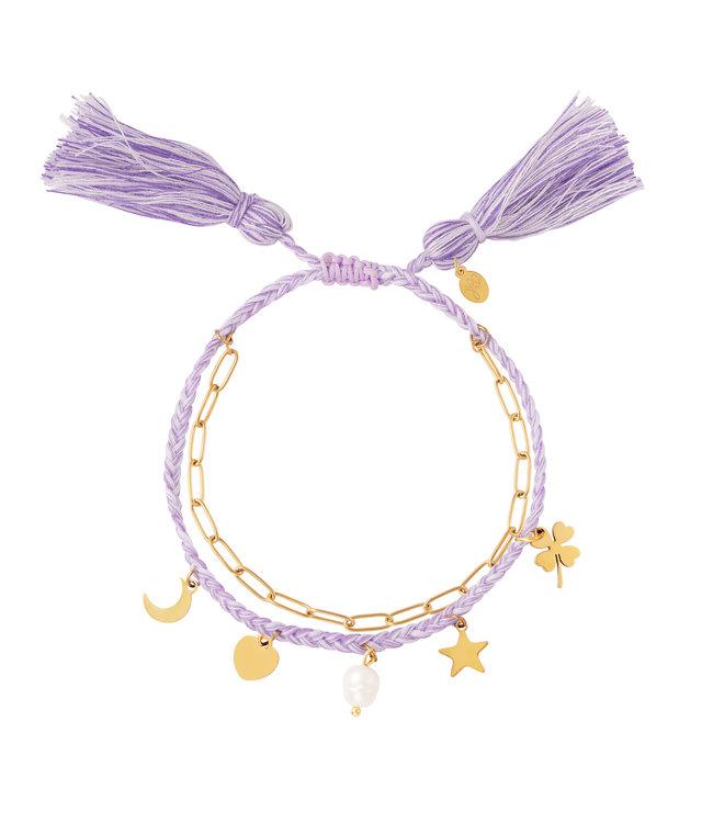 Double Colorful Charms Bracelet
