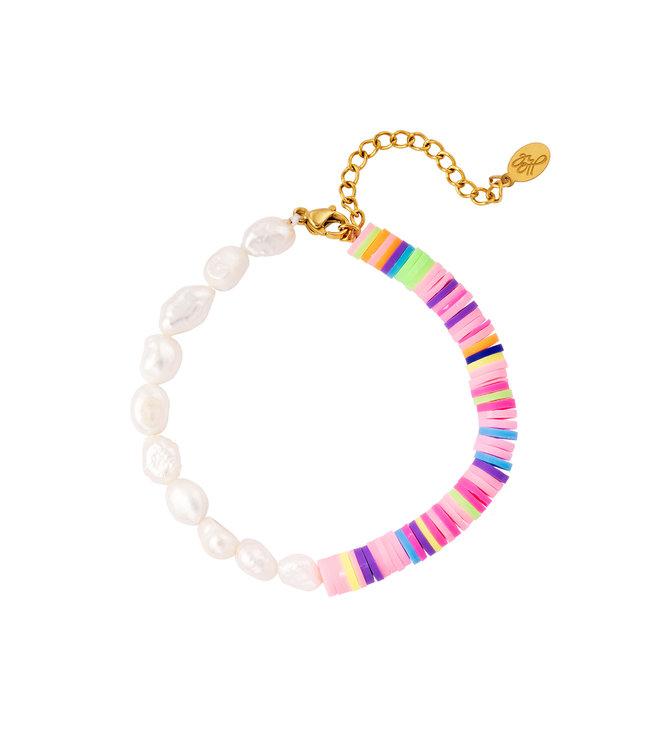 Half Beaded Rainbow Bracelet