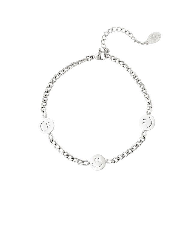 Silver Original Smiley Bracelet