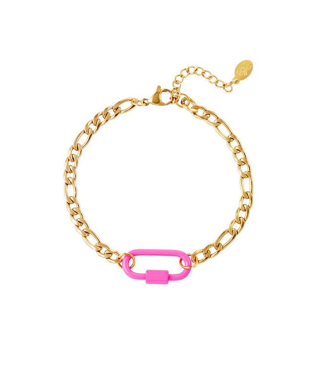 Colored Lock Bracelet