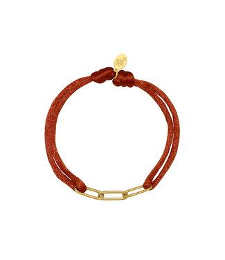 Satin Chains Bracelet / Rusty Brown