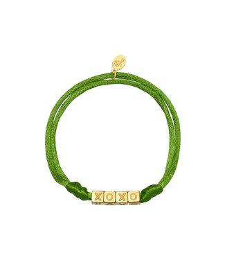 Satin Kisses Bracelet / Green
