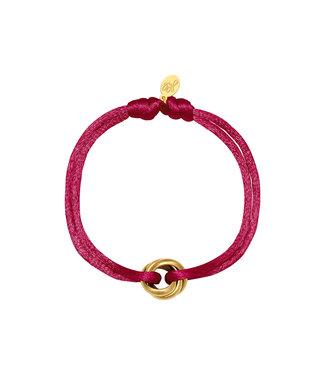 Satin Knot Bracelet / Burgundy Red