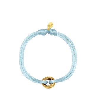 Satin Knot Bracelet / Light Blue