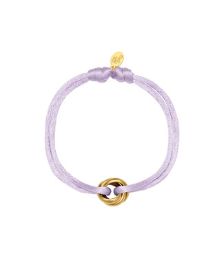 Satin Knot Bracelet / Lilac
