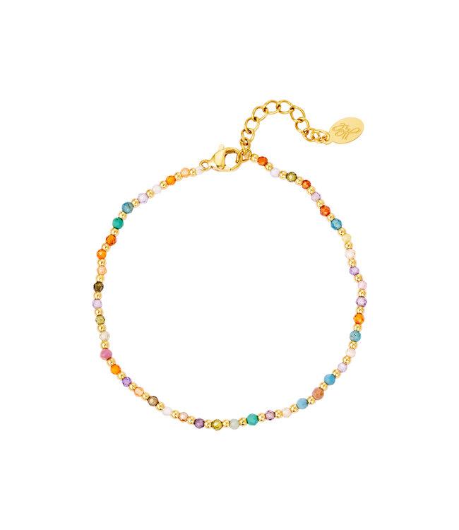 Colored Stone Beads Bracelet